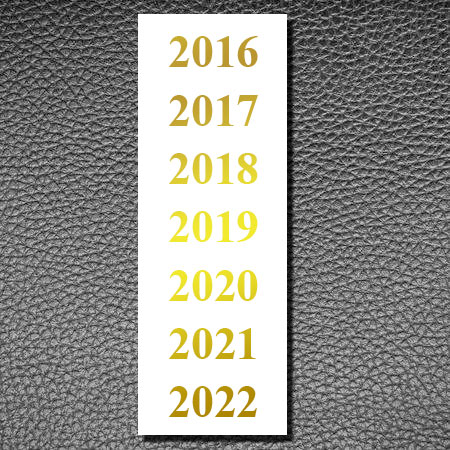 Gold Date Label 2016-2022