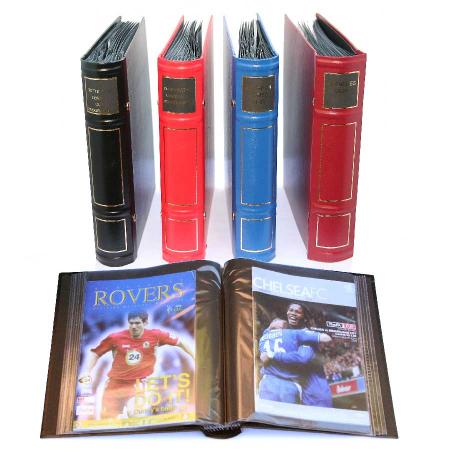 Football programme pocket binder