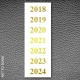 Gold foil years labels 2018-2024